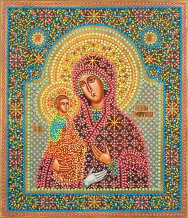 """Célèbre Icônes de la Sainte-Vierge.. Icône de la Mère de Dieu """"A Trois Mains"""" GZ38"""